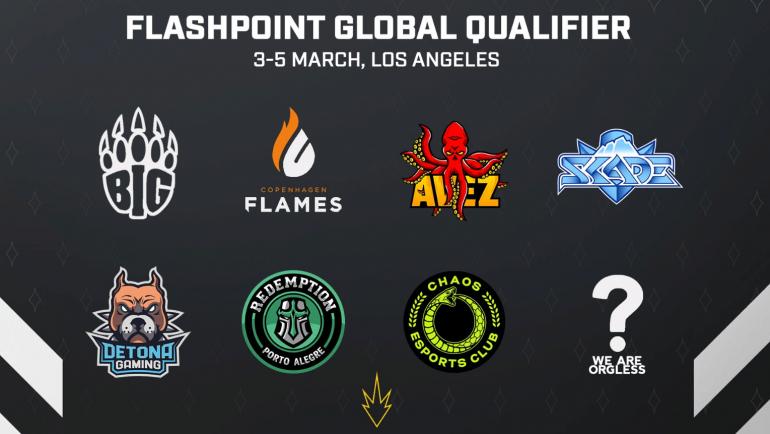 Окончательный список команд на FLASHPOINT Global Qualifier